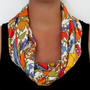 Image of Organic Cotton Knit Scarf - Tulip