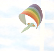 Image of TtableOffice Riding the Rainbow Mobile