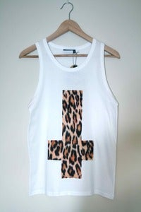 Image of Upside Down Leopard Cross Vest