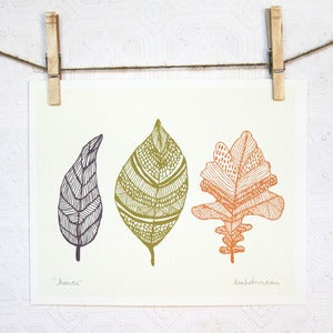 Image of Leaves Print 8 x 10