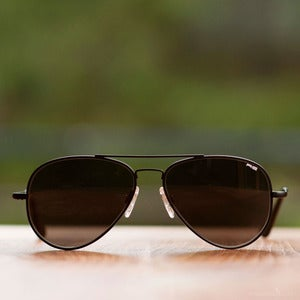 Image of Randolph Engineering Concorde Sunglasses - Matte Black Frame Gray Lens
