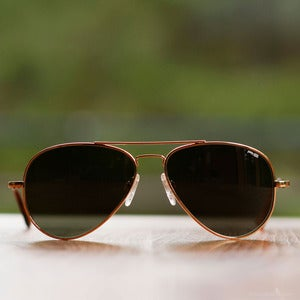 Image of Randolph Engineering Concorde Sunglasses - Gold Frame AGX Lens