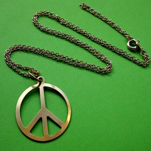 Image of Vintage CND Peace Sign Necklace (various colours)