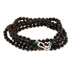 Image of Hand Knotted Ebony Wood Necklace / Wrap Bracelet