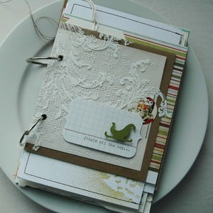 Image of jingle all the way art journal kit