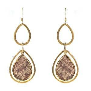 Image of Pamela Earrings - Leather