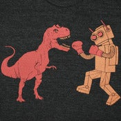 Image of Dinosaur Vs Robot T-shirt