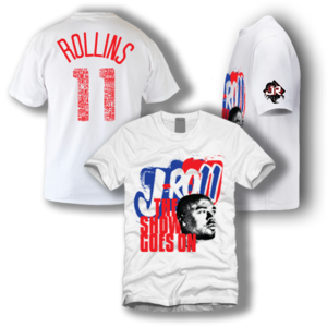 "Image of J-Ro11 ""The Show Goes On"" Tee (White)"