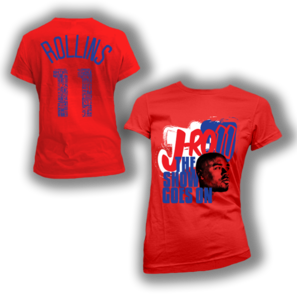 "Image of Women's: J-Ro11 ""The Show Goes On"" Tee (Red)"