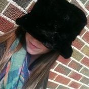 Image of black mink hat