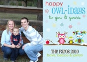 Image of Happy Owl-iday Holiday Card