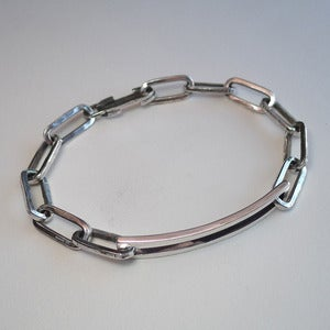 Image of Sterling Silver Open ID Bracelet with Handmade Clasp