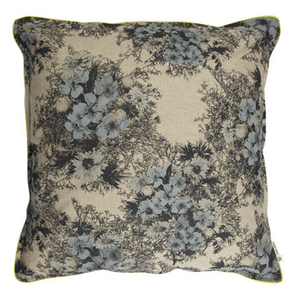 Image of wild floral cushion cover