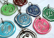 Image of MINI Your Choice of Color Wax Seal Pendant By Ritzy Misfit