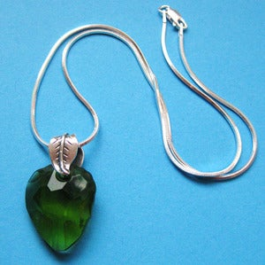 Image of Swarovski Crystal Forbiden Fruit Sterling Charm Necklace