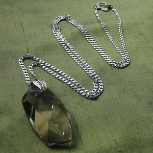 Image of Large Smokey Swarovski Crystal Necklace