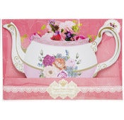 Image of Tea Time Flower Tea Pot Centerpiece Vase