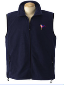 Image of BYC Burgee Men's Fleece - Available in Full-Zip, 1/4 Zip, & Full-Zip Vest