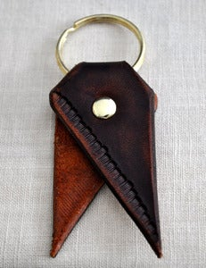 Image of Walnut Fringe Bookmark Key Chain