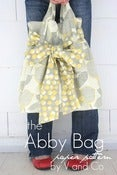 Image of the abby bag -PAPER PATTERN by V and Co.