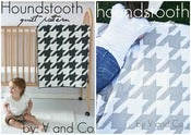Image of houndstooth quilt PAPER PATTERN (baby and larger versions included)