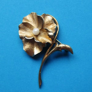 Image of Golden Beauty Signed Vintage Brooches (Various Designs)