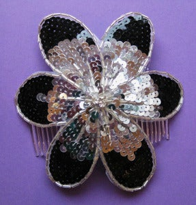 Image of Sequin Sparkler Flower Power Hair Comb (various colours) SALE