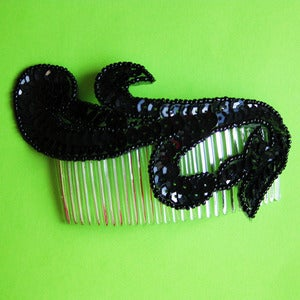 Image of Come Dance With Me Sequin Swirl Comb (various colours)