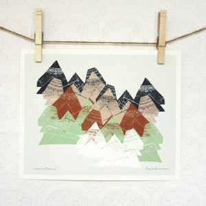 Image of Mountains Print 8 x 10