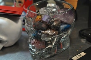 Image of Glass Skull Vase