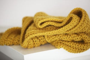 Image of Casual Scarf in Honey Mustard