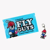 Image of Kidrobot Fly Guys Enamel Zipper Pull Series 1-Inch