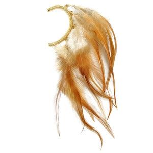 Image of Ginger. Fiery Feather Ear Cuff