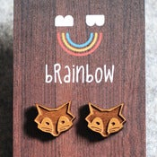 Image of Wooden Fox Earring