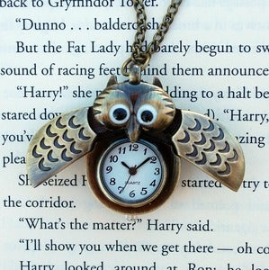 Image of Winged Owl Watch Necklace