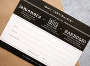 Image of $100 Jamonera/Lolita/Barbuzzo Gift Certificate