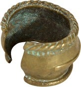 Image of 19th-C. African Brass Bracelet, Braided