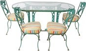 Image of 1920s Outdoor Dining Set