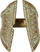 Image of 19th-C. African Brass Bracelet, Triangular