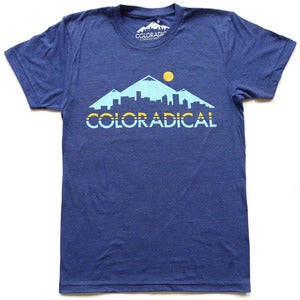 Image of Men's Coloradical Colorado Skyline T-Shirt