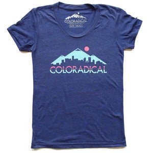 Image of Women's Coloradical Colorado Skyline T-Shirt
