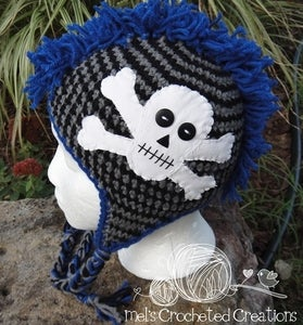 Crochet Pattern - PIRATE BABY GIRL SKULL  CROSSBONES | eBay
