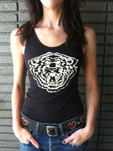 Image of GIRL'S Black TIGER BEATER TANK TOPS