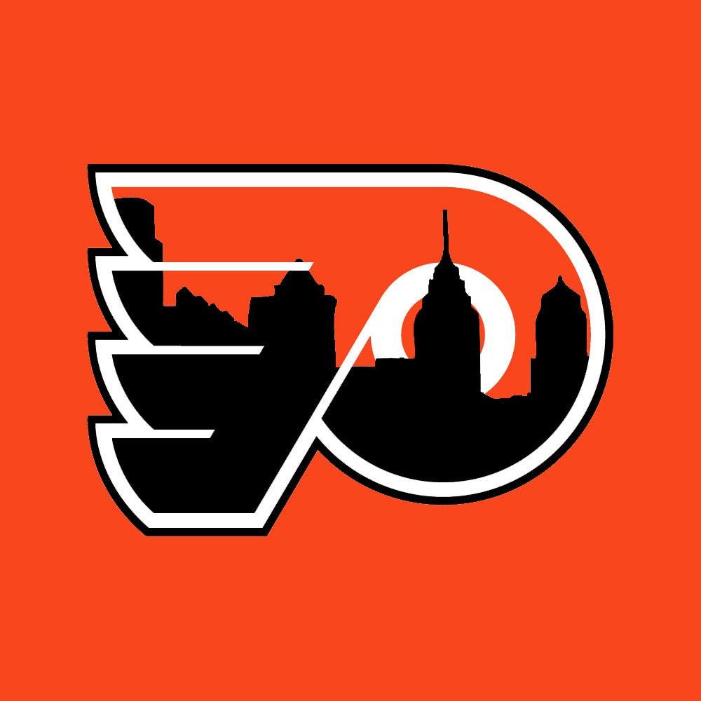 Philadelphia Eagles >> Philly Phan Apparel — Flyers Logo with Skyline