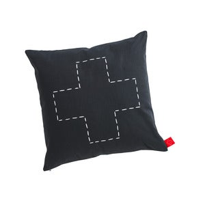 Image of canvas cushion (small) - cross