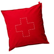 Image of canvas cushion (floor) - cross