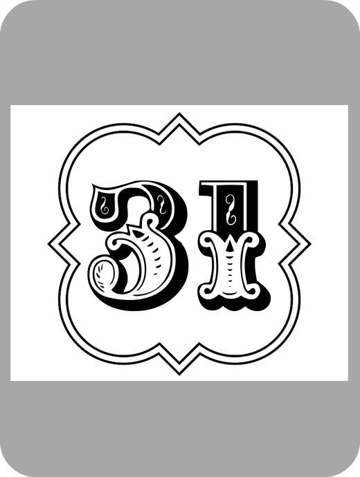 Image of #31 Vinyl Decal