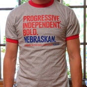 "Image of ""Progressive. Independent. Bold. Nebraskan."" T"