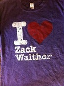 Image of T Shirt Green I Luv ZW on Purple