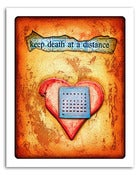 Image of 8x10&quot; Paper Print - Hearts &amp; Headlines - Keep Death At A Distance
